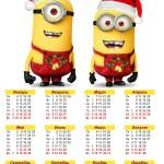 Календарь 2016 с миньонами