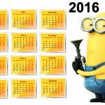 календарь с миньоном