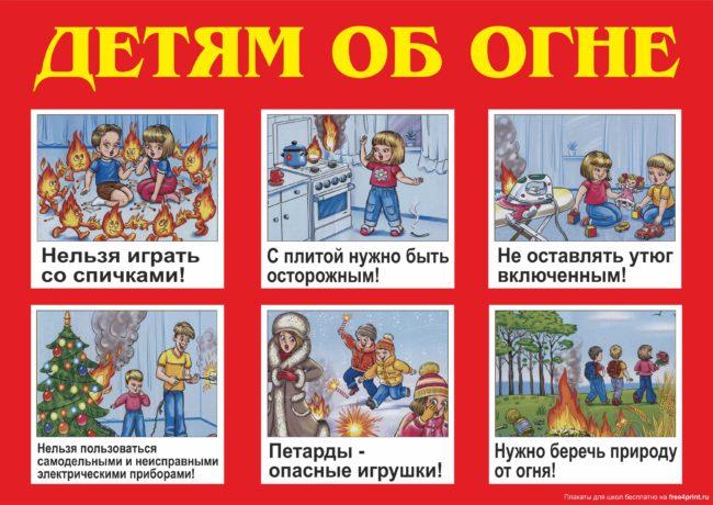 как знакомить детей с правилами поведения при пожаре