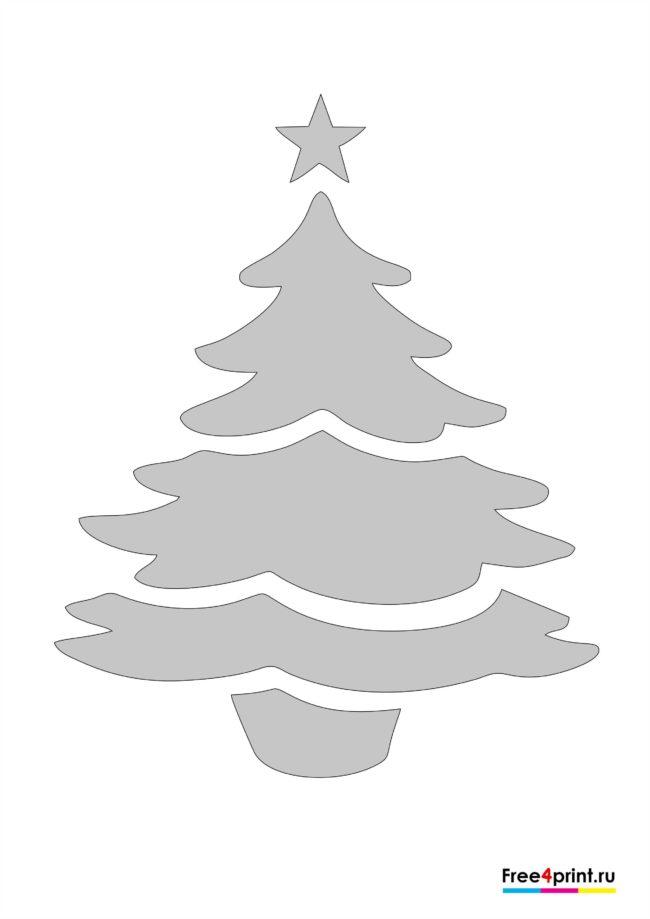 """Трафарет """"Новогодняя елка"""""""
