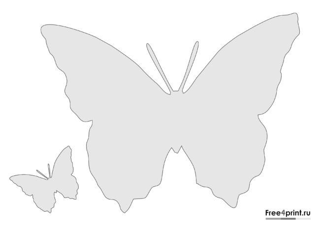 Трафарет с бабочками для распечатки