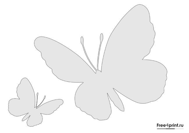 Трафарет с летящими бабочками